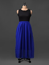 Colour Block Poly Georgette Dress - CINDRELLA