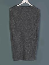 Grey Melange Cotton Skirt - Femella