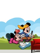 Mickey & Minnie Reading Wall Sticker - Creative Width Design