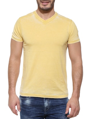 Pepe jeans yellow Cotton Tee-shirt  -  online shopping for T-Shirts