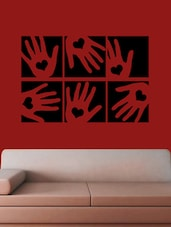 Hands With Heart Wall Sticker - Creative Width Design