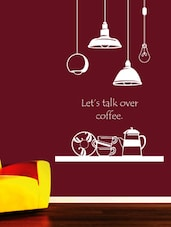 """ Let's Talk Over Coffee "" Wall Sticker - Creative Width Design"