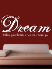 """ Follow Your … Takes You "" Wall Sticker - Creative Width Design"