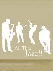 """All That Jazz!!"" Vinyl Wall Sticker - Creative Width Design"