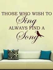 Red Music Quote Vinyl Wall Sticker - Creative Width Design