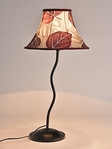 Multicolor metallic table lamp