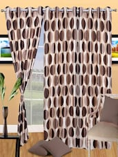 Circle Printed Polyester Eyelet Door Curtain - Handloomdaddy
