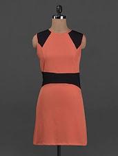 Color Block Sleeveless Crepe Dress - Belle Fille