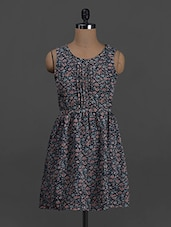 Floral Printed Sleeveless Polyester Dress - Belle Fille