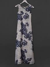 Floral Printed Sleeveless Polygeorgette Dress - Belle Fille