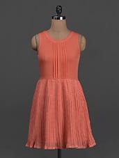 Pin Tuck Sleeveless Crepe Dress - Belle Fille