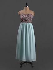 Floral Printed Polygeorgette Maxi Dress - Belle Fille