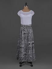 Monochrome Shorts Sleeves Polygeorgette Dress - Belle Fille