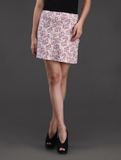 Floral Printed Cotton Knit Skirt - Belle Fille