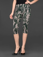 Green Printed Cotton Capri - Posh 7