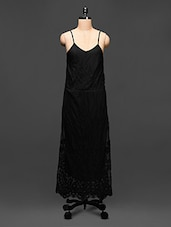 Black Embroidered Maxi Dress - Global Colours