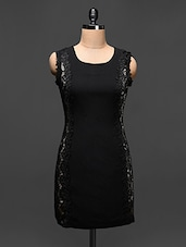 Black Lace Embellished Bodycon Dress - Buylane