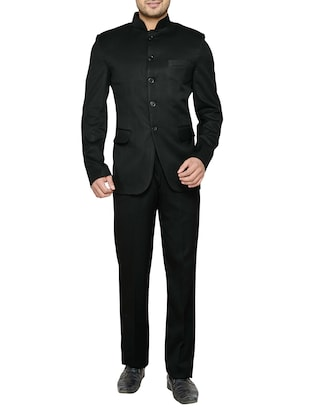 black cotton suits (business and party) -  online shopping for Suits (Business and Party)