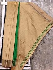 Beige Cotton Silk Saree - Creation