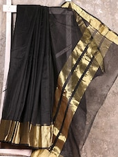 Black Cotton Silk Handloom Saree - Creation