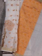 Embroidered Handwoven Banarasi Cotton Saree - Shiva Saree