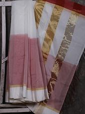 Zari Pallu Handwoven Cotton Blend Saree - Shiva Saree