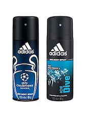 Adidas Champion league & Ice Dive pulse  Deodorant Men 150ml Pack Of 2 -  online shopping for Deodorants