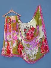 Multicolor Floral Georgette Saree - Click Sarees