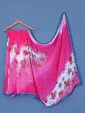 Floral Checked Pink Georgette Saree - Click Sarees