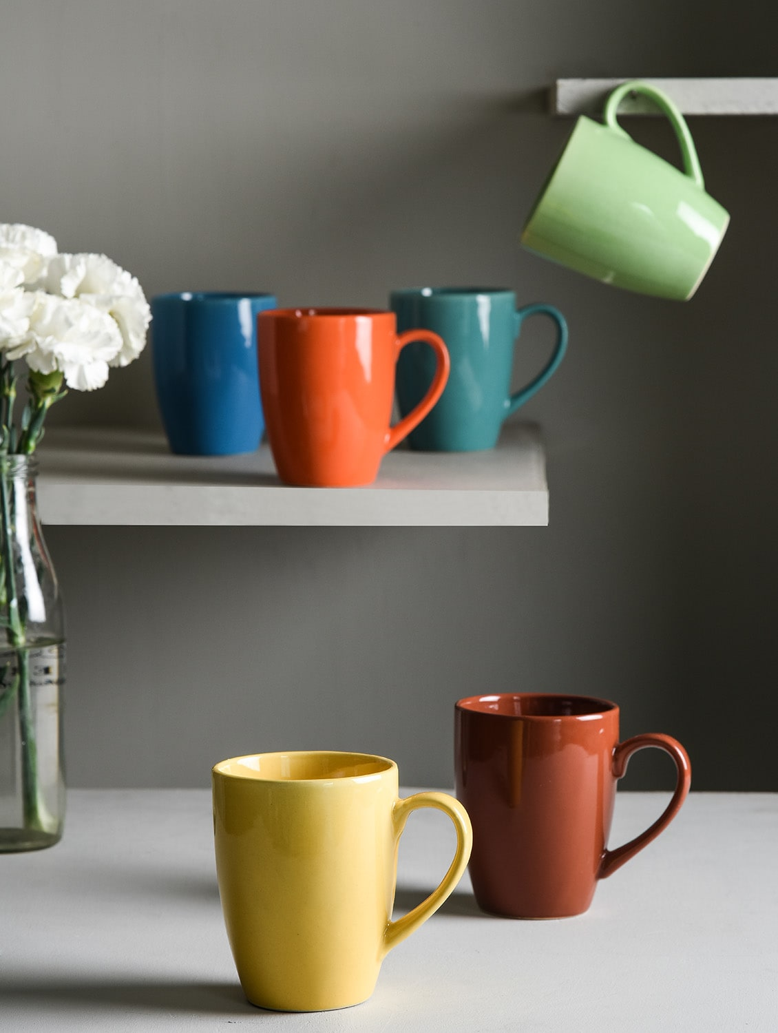 Buy Multi Color Large Mugs Set Of 6 By Kittens Online