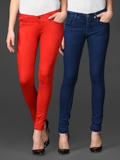 Combo Of Cotton Lycra Jeans And Chinos - Coaster