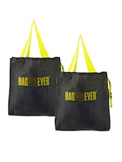 Set Of 2 Grey Shopping Bags - Bagforever