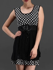 Black Polka Dot Printed Dress - London Off