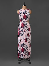 Sleeveless Floral Print Maxi Dress - CHERYMOYA