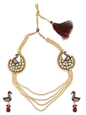 Fasherati Vintage Style Peacock Necklace Set For Women - By