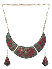Red Brass Necklace - By