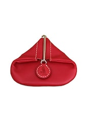 Red Leather Coin Pouch - ADAMIS