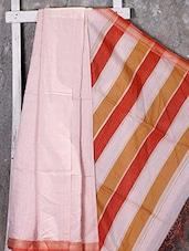 White Jacquard Cotton Silk Saree - NFTSSLTD
