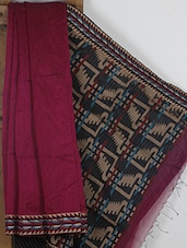 Maroon Handwoven Cotton Silk Jamdani Saree - NFTSSLTD