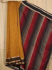 Mustard Handwoven Jamdani Cotton Silk Saree - NFTSSLTD
