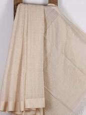 Cream Handwoven Cotton Silk Saree - NFTSSLTD