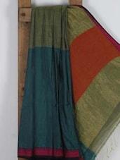 Multicoloured Handwoven Cotton Silk Saree - NFTSSLTD