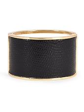 Textured Black And Gold Metal Cuff - HARP