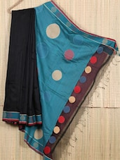 Bengal Handloom Resham Gheecha Woven Saree - Cotton Koleksi