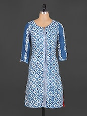 Quarter Sleeves Printed Cotton Kurta - Jhalani Exports