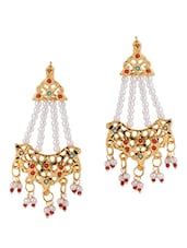 Pearl Embellished Earrings - Fashionography