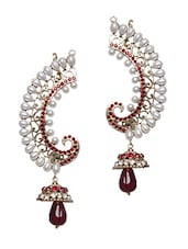 Pearl Embellished Ear Cuff Earrings - Bazarvilla
