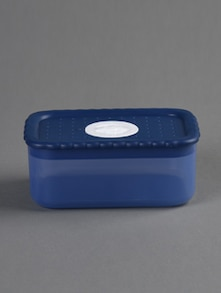 Blue square food container