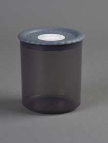 Black round food container