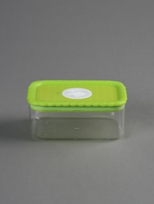 Green lid rectangular container